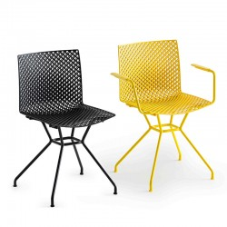 Trellis chair with or without armrests - Fuller