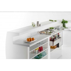 Bartender Counter with Steel Top - Igloo