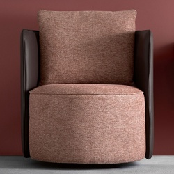Round Fabric Armchair for Waiting Room - Elder