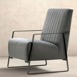 Upholstered Wooden Armchair for Waiting Room - Angy