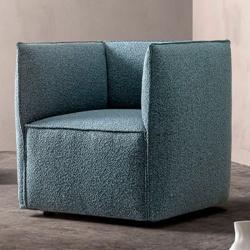 Square Design Lounge Armchair - Craft